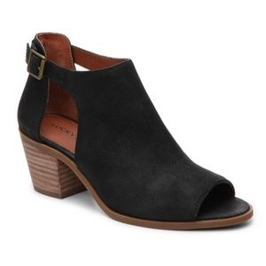 LUCKY BRAND Barimo Ankle Boots Black Leather